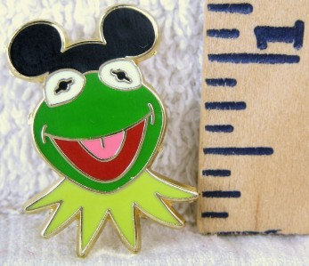 Muppets KERMIT The FROG W Mickey Mouse Ears DISNEY PIN