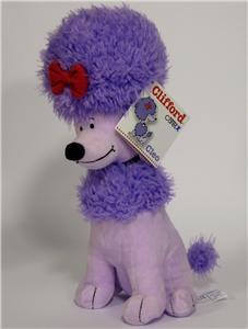 Kohls CLEO Plush Clifford Big Red Dog Purple Plush NEW
