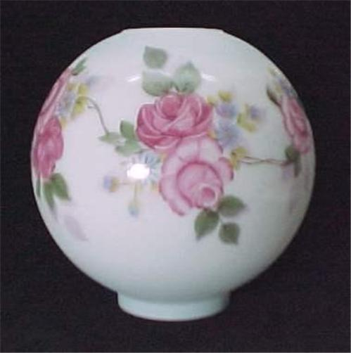 Gone-with-the-Wind-Ball-Glass-Oil-Lamp-Shade-Hptd-Roses