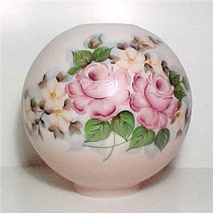 Roses Gone With The Wind Ball Glass Oil Lamp Shade Hand