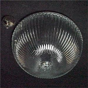 Ribbed Clear Glass 8 In Ceiling Light Pan Shade Globe For