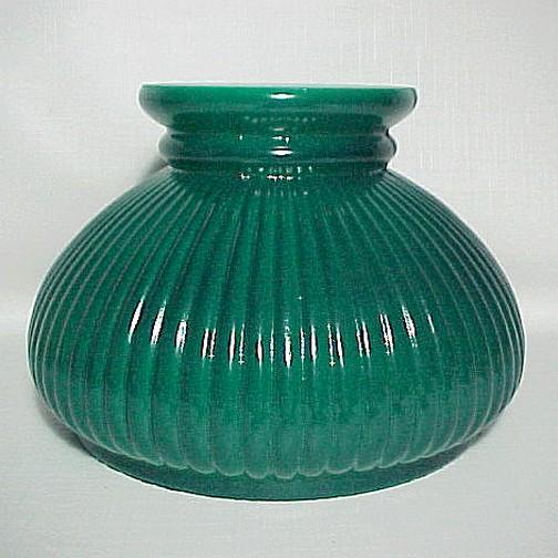 details about green glass student kerosene oil lamp light 7 in shade. Black Bedroom Furniture Sets. Home Design Ideas