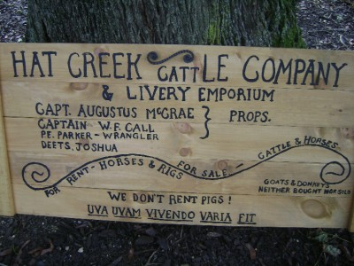 Original hat creek cattle company sign