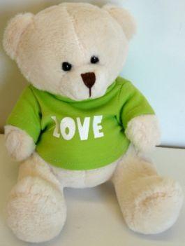 Soft-Toy-Message-Teddy-Bear-14cm-LOVE-x-1-New-Soft-Plush-New