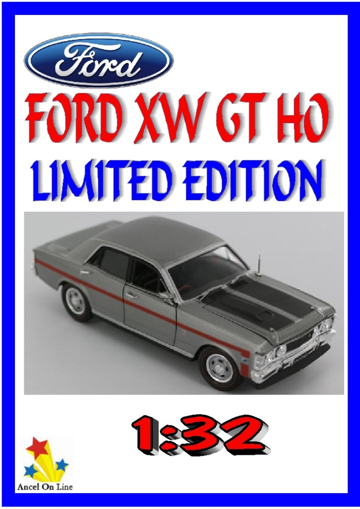 FORD-XW-GT-HO-Diecast-Model-Car-SILVERFOX-1-32-Limited-Edition-Certificate-Boxed