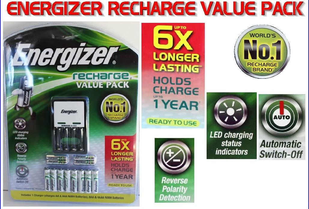 energizer recharge value charger manual