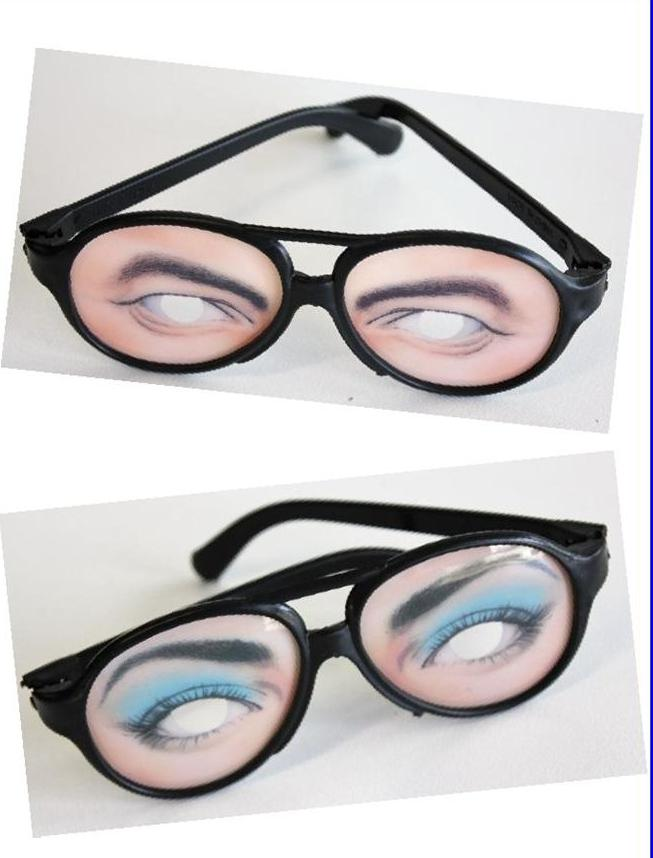 bulk lot 6 x eye glasses shape varying joke