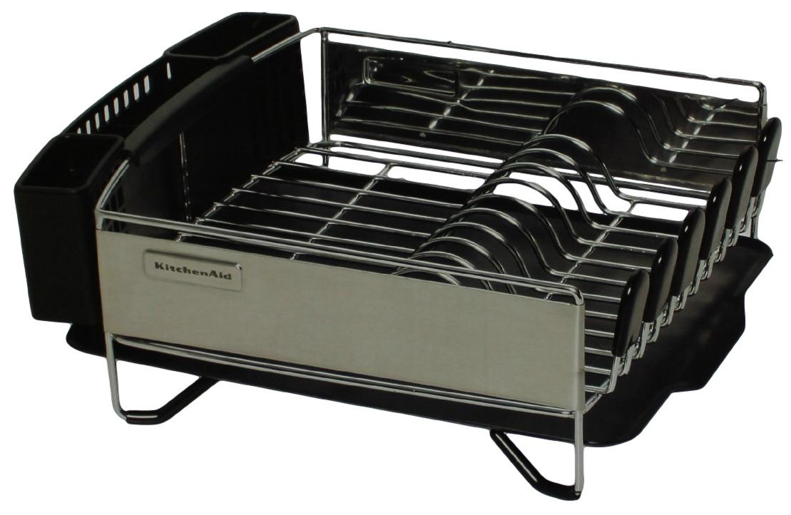 kitchenaid 3pc dish drying rack drainer tray plate cup