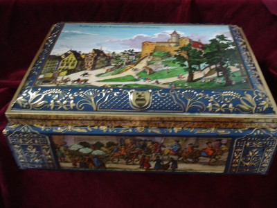 lebkuchenfabrik schmidt nurnberg german cookie tin box ebay. Black Bedroom Furniture Sets. Home Design Ideas