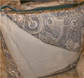 ralph lauren coral beach black /grey paisley queen comforter set