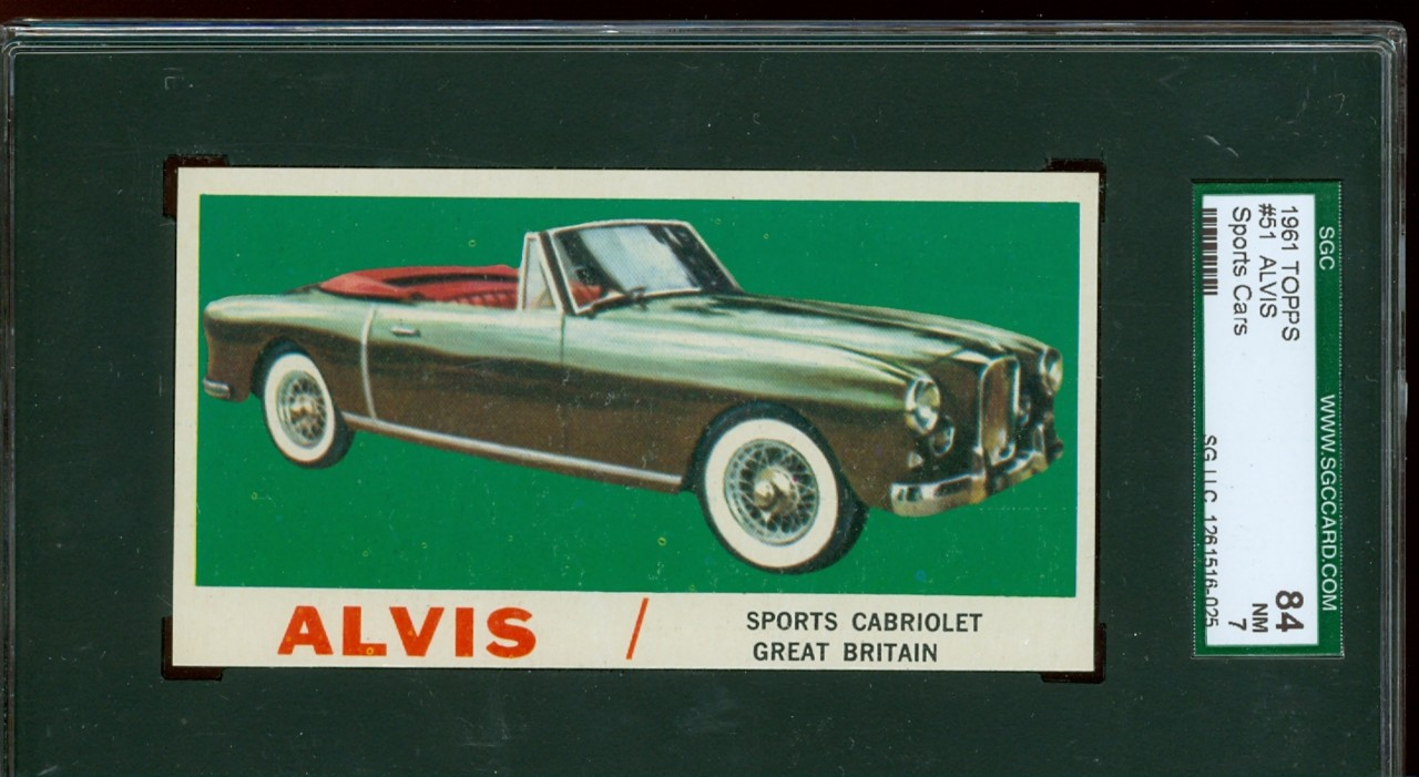 1961 Topps Sport Cars #51 Alvis ~ SGC 84 ~ HIGH END | eBay