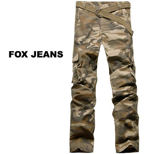 NEW-MENS-FOXJEANS-CAMO-CARGO-PANTS-SIZE-38