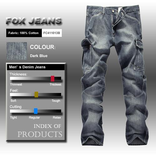NEW-MENS-FOXJEANS-DENIM-CARGO-JEANS-SIZE-32