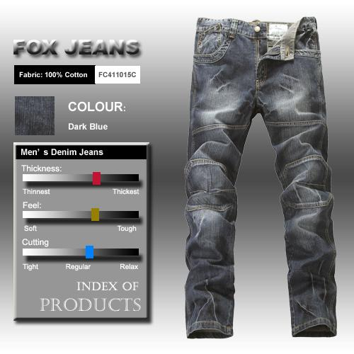 NEW-MENS-FOXJEANS-DENIM-MENS-BLUE-JEANS-SIZE-36