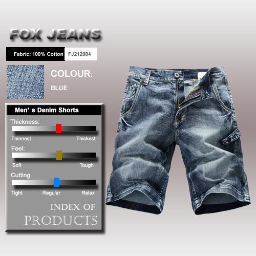 NEW-MENS-FOXJEANS-BLUE-DENIM-SHORTS-SIZE-44