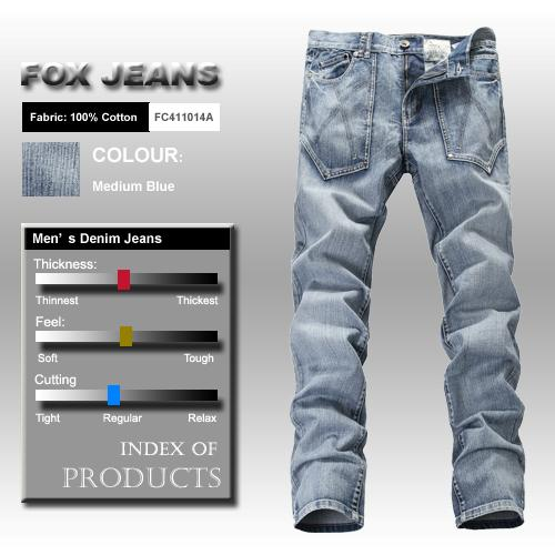 NEW-MENS-FOXJEANS-DENIM-MENS-BLUE-JEANS-SIZE-32