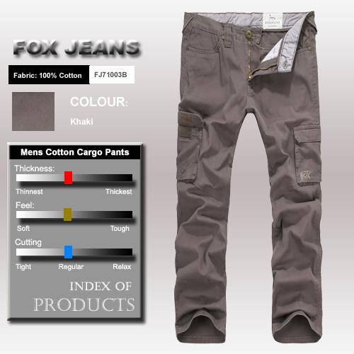NEW-MENS-FOXJEANS-CAUSAL-MILITARY-ARMY-MENS-CARGO-WORK-PANTS-TROUSERS-SIZE-40
