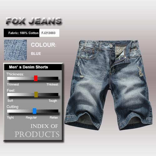 NEW-MENS-FOXJEANS-BLUE-DENIM-SHORTS-SIZE-34