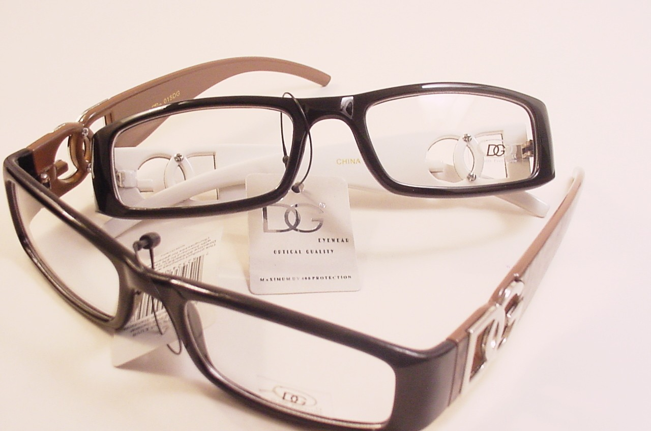 designer quot dg quot clear lens glasses optical quality frames