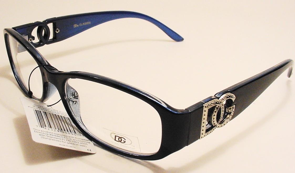 Designer-DG-Clear-Lens-Glasses-Optical-Quality-Frames-Colors-Fancy-Arms-CL-029