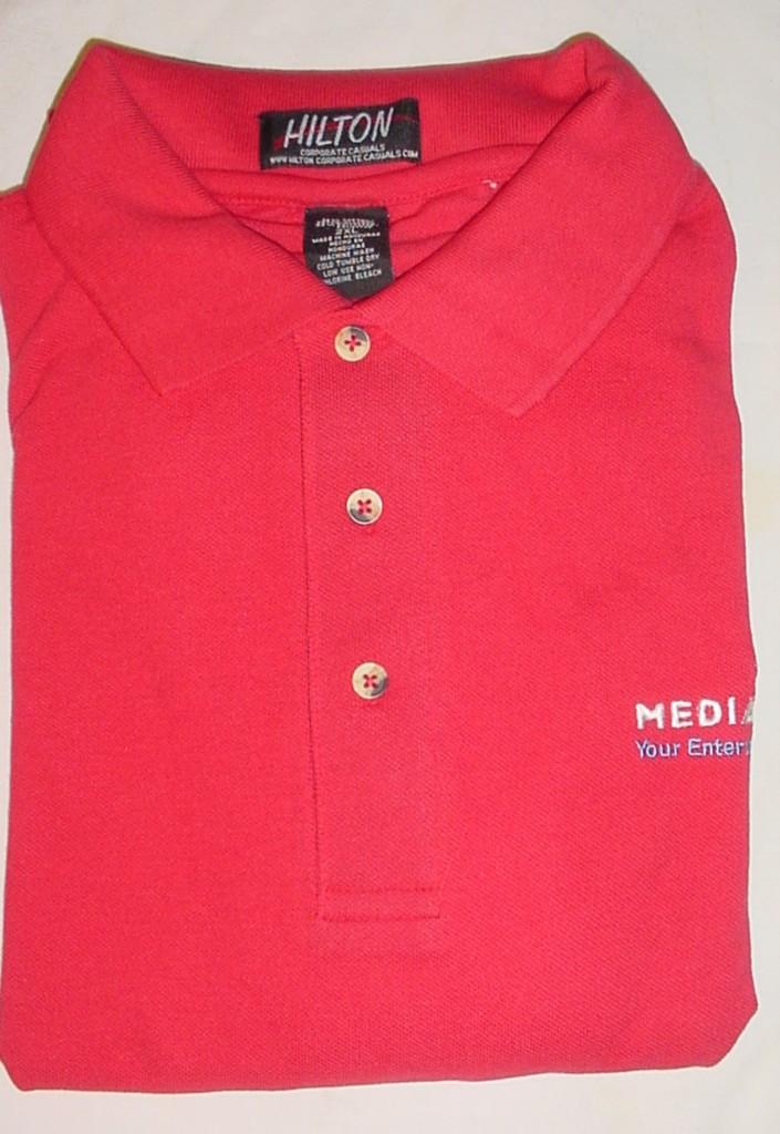 Big men hilton red media play uniform polo shirts shirt for Mens 5x polo shirts