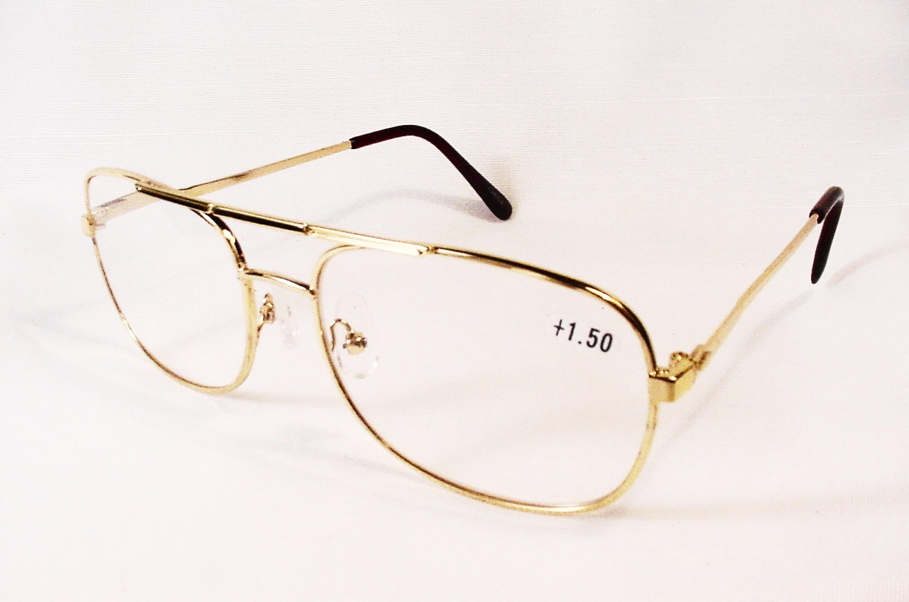 Gold Wire Frame Glasses :