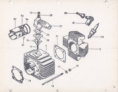 1982 Italjet Pack A Way Morini engine parts book COPY