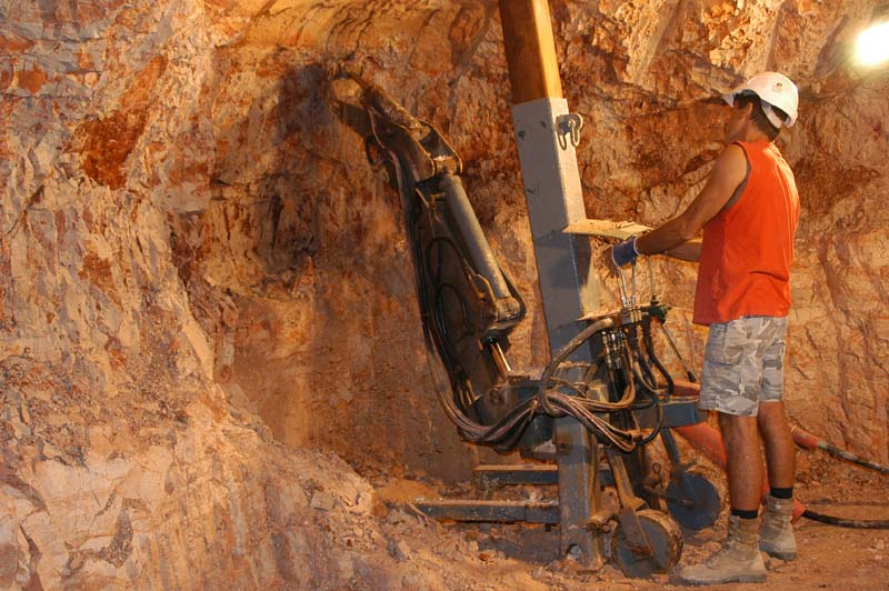 using the digger - underground mining