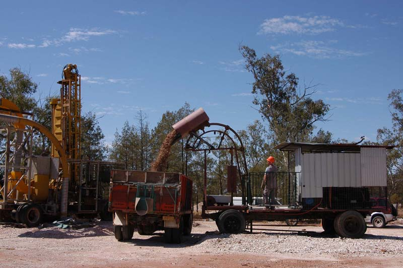 Mining equipment on our claim at Coocoran Opal Field