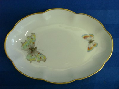 l e c limoges france colorful butterfly tray dish gold. Black Bedroom Furniture Sets. Home Design Ideas