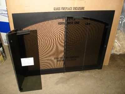 New Stoll Fireplace Insert Screen And Glass Doors Ebay