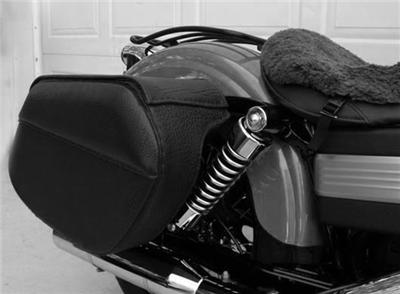 Racaposhi Leather Saddlebags For Harley Davidson Dyna