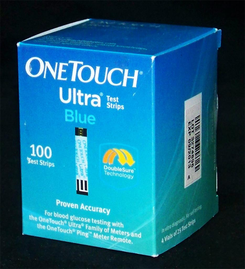 One Touch Ultra Blue Blood Glucose Test Strips are intended for use with OneTouch Ultra, OneTouch Ultra, OneTouch UltraSmart, OneTouch Ultra Mini and One Touch InDuo Blood Glucose Meters. Box of Diabetes Test Strips.