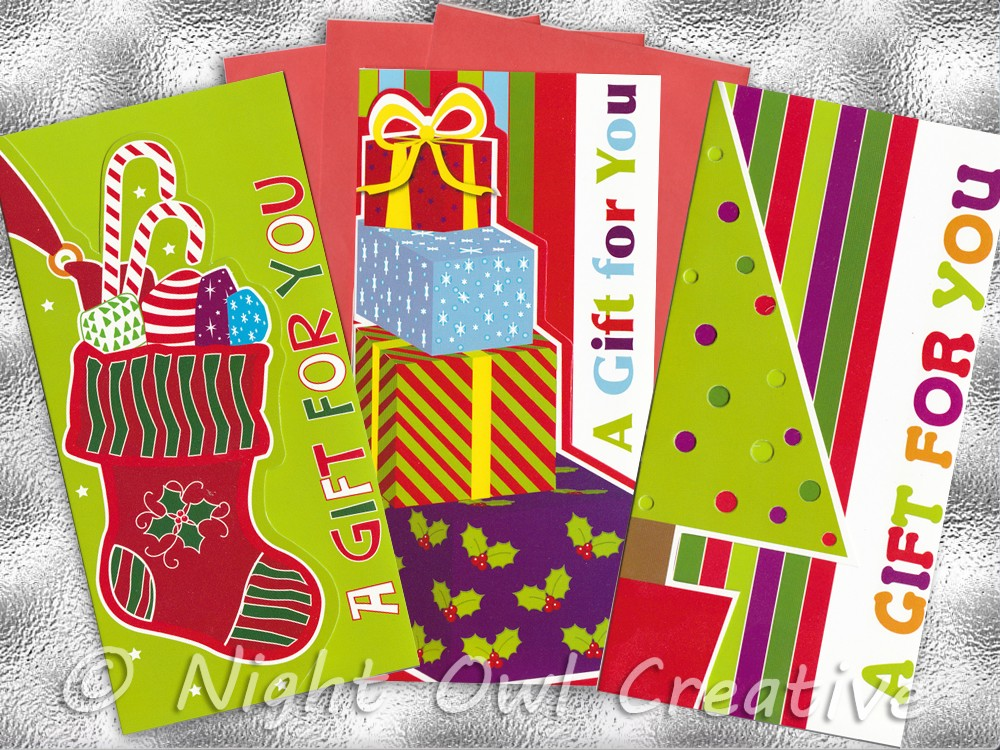 Cash Gift Money Envelopes Cards Christmas Winter Themed ALL Ages ...