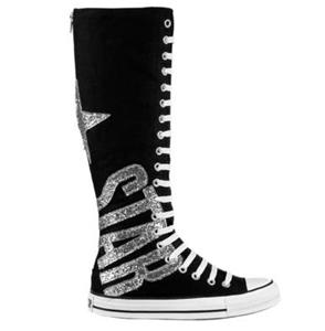 new converse all glitter xx hi knee high boots womens