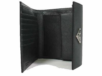 4ffd2b2178ea New Prada Tri-Fold Wallet #M170 - Tessuto Nylon - Black