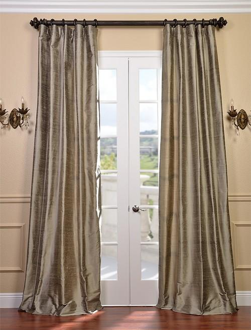 Cashmere textured dupioni silk curtains drapes ebay for Silk curtains texture