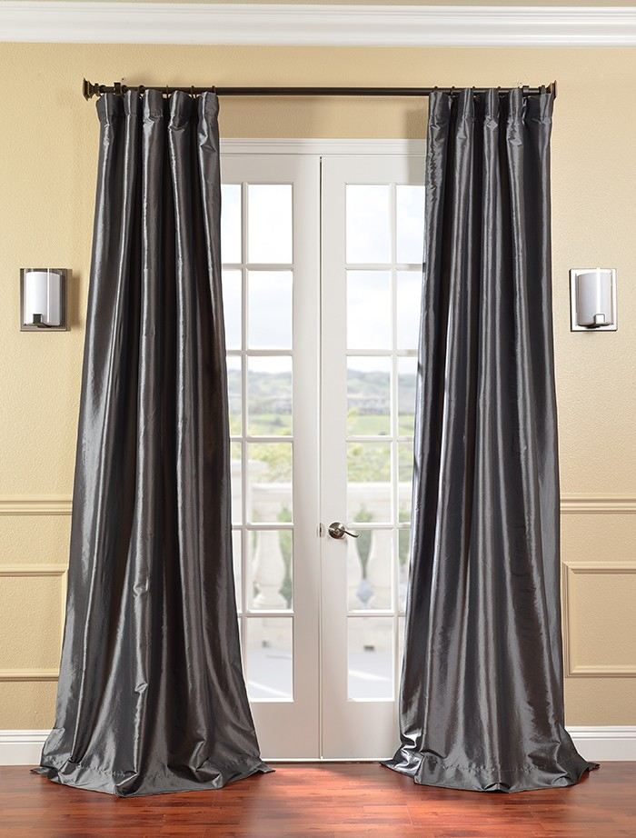 Privacy Curtains For Home Green Taffeta Curtains