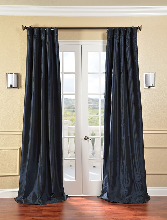 Black and blue curtains 2