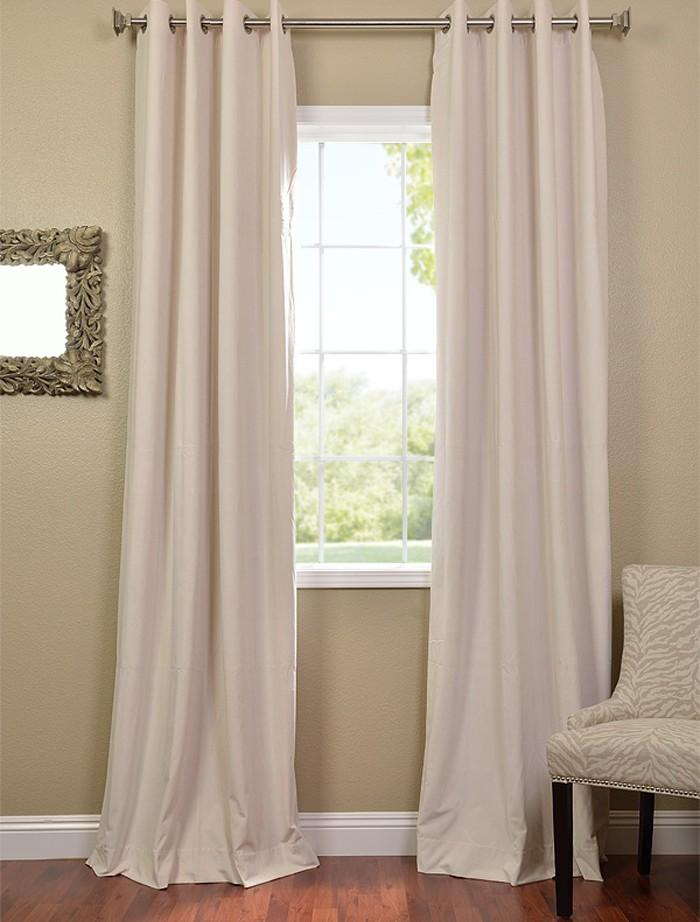 ivory grommet velvet blackout curtains drapes ebay