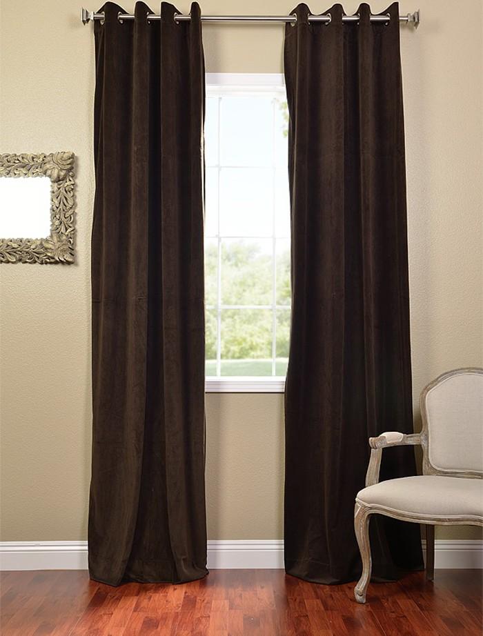 Java Grommet Velvet Blackout Curtains Drapes Ebay