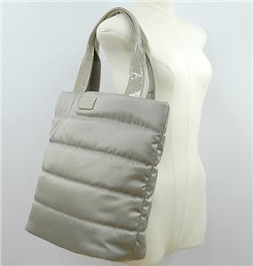 Authentic KATE SPADE Alpine Hills Bon Shopper Ash Gray Quilted Nylon