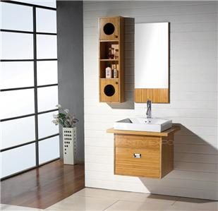 wall mount bamboo bathroom vanity cabinet set fh bm04