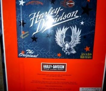 New Original Harley Davidson Woven Shower Curtain Fabric