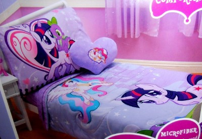 4PC MY LITTLE PONY CANTERLOT COMFORTER SHEETS TODDLER BED