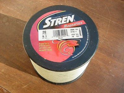 New in package stren magnaflex fishing line 20 lb test for 20 lb fishing line