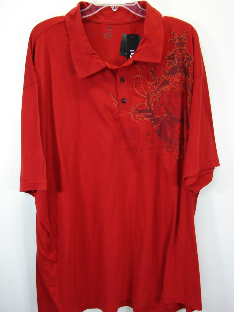 Nwt Sleek Red Jf J Ferrar Mens Big Tall Polo Shirt Size