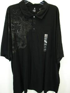 NWT Black J.Ferrar Graphic Polo Shirt Mens Big & Tall 3XL XXXL NEW $40