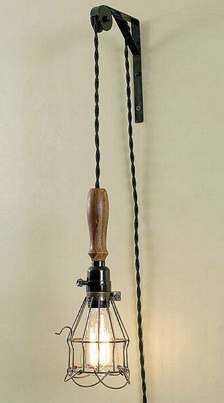 Vtg Industrial Look Wall Mount Bracket Pulley for Sconce & Pendant Lamp Lights eBay