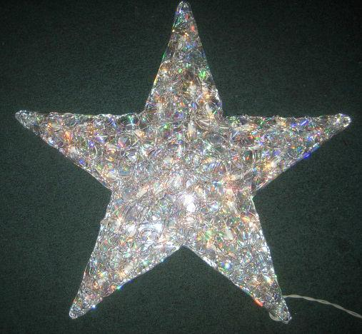 Large 21 acrylic lighted star 35 lights indoor outdoor for Acrylic decoration